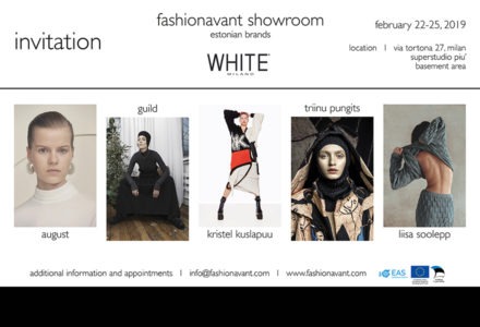 fashionavant showcases estonian fashion brands at white in milan