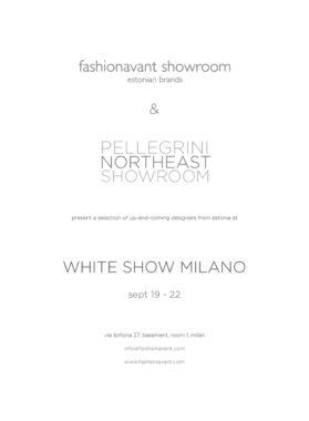 fashionavant showcases estonian fashion brands at white show milano
