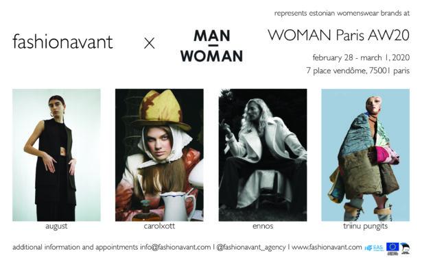 fashionavant represents four estonian brands at woman paris aw20